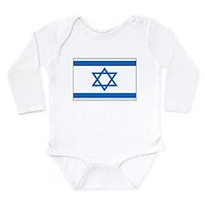 Flag of Israel 1 Long Sleeve Infant Bodysuit