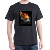 Self-Immolating Thich Quang Duc Black T-Shirt