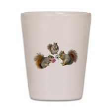 Squirrels Poker Shot Glass