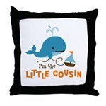 Little Cousin - Mod Whale Throw Pillow