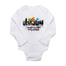 Equality is a right! Long Sleeve Infant Bodysuit