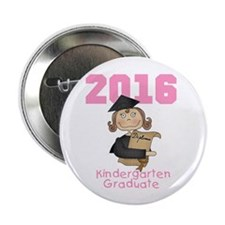 "Girl Kindergarten Grad 2013 2.25"" Button (10 pack)"