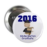 "Boy Kindergarten Grad 2013 2.25"" Button"