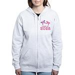 2028 Girls Graduation Women's Zip Hoodie