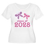 2028 Girls Graduation Women's Plus Size Scoop Neck