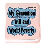 My generation will end world baby blanket