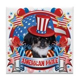 American Pride Pekingese Tile Coaster