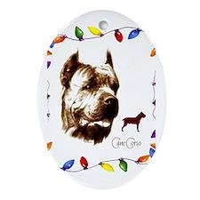 Cane Corso holiday designs Oval Ornament