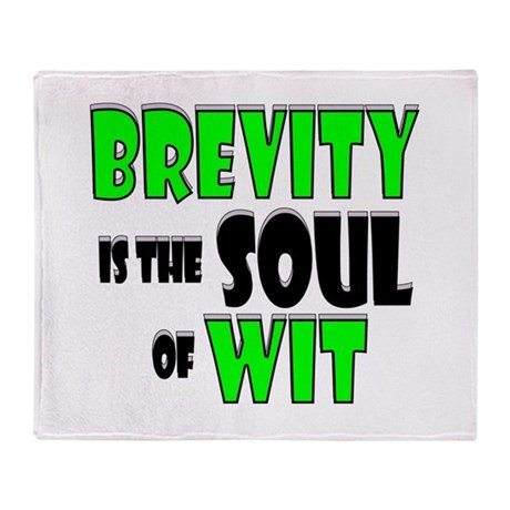 Witty Brevity Throw Blanket