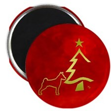 basenji holiday designs Magnet
