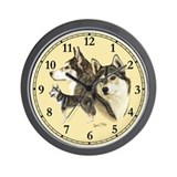 Siberian Husky Wall Clock