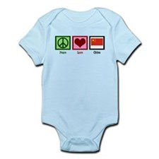 Peace Love China Infant Bodysuit