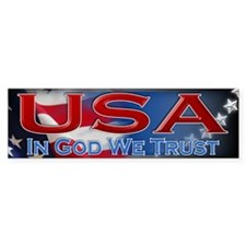 USA - In God We Trust - Bumper Sticker
