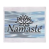 Namaste Lotus Ripple Throw Blanket