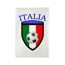Italian Soccer Rectangle Magnet