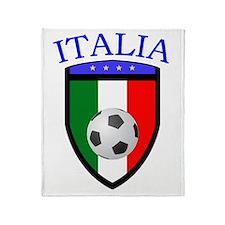 Italian Soccer Throw Blanket