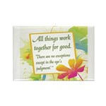 ACIM-All Things Work Together Rectangle Magnet (10