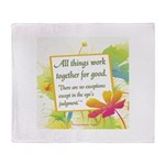 ACIM-All Things Work Together Throw Blanket
