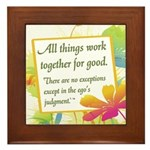 ACIM-All Things Work Together Framed Tile