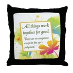 ACIM-All Things Work Together Throw Pillow