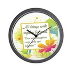 ACIM-All Things Work Together Wall Clock