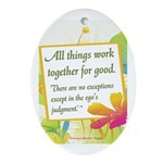 ACIM-All Things Work Together Ornament (Oval)