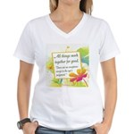 ACIM-All Things Work Together Women's V-Neck T-Shi