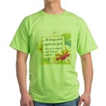 ACIM-All Things Work Together Green T-Shirt