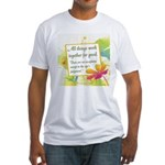 ACIM-All Things Work Together Fitted T-Shirt