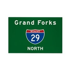 Grand Forks 29 Rectangle Magnet
