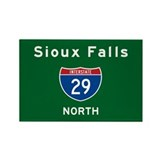Sioux Falls 29 Rectangle Magnet