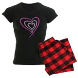 Brush Stroke Heart pajamas