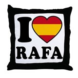 I Love Rafa Nadal Throw Pillow