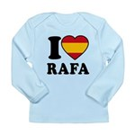 I Love Rafa Nadal Long Sleeve Infant T-Shirt