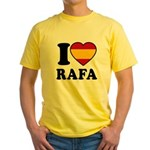 I Love Rafa Nadal Yellow T-Shirt