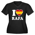 I Love Rafa Nadal Women's Plus Size V-Neck Dark T-