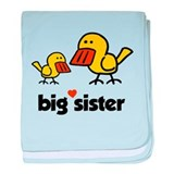 Duck Big Sis baby blanket