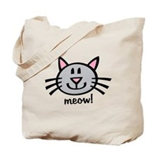 Lil Grey Cat Tote Bag