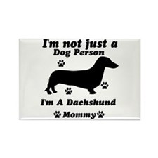 Dachshund mommy Rectangle Magnet (100 pack)