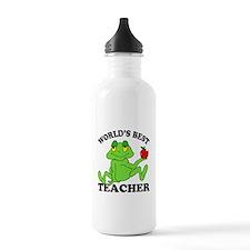 Frog Teacher Sports Water Bottle