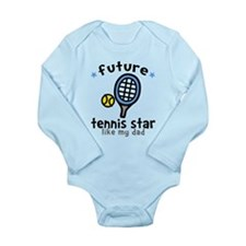 Tennis Star - Dad Long Sleeve Infant Bodysuit
