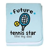 Tennis Star - Dad baby blanket