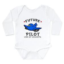 Pilot Like Grandpa Long Sleeve Infant Bodysuit