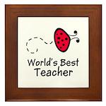Ladybug Teacher Framed Tile