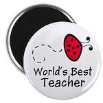 Ladybug Teacher Magnet