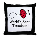 Ladybug Teacher Throw Pillow