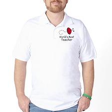 Ladybug Teacher Golf Shirt