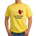 Ladybug Teacher Yellow T-Shirt