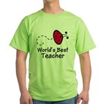 Ladybug Teacher Green T-Shirt