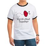 Ladybug Teacher Ringer T